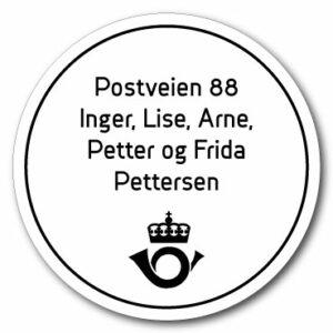 Postkasseskilt Horn | Hvit