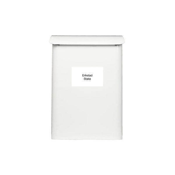 Postkasseskilt Enkelt   Hvit