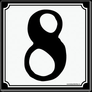 husnummerskilt retro_15x15cm