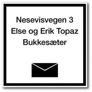 Postkasseskilt Brevpost