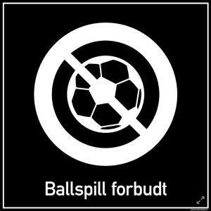 Privatrettslig | Ballspill forbudt