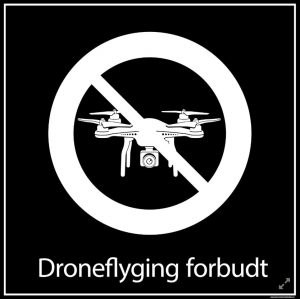 Droneflyging forbudt