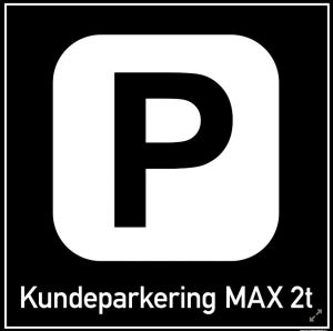 Kundeparkering MAX 2t