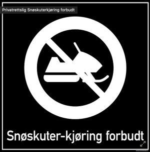 Snøskuterkjøring forbudt