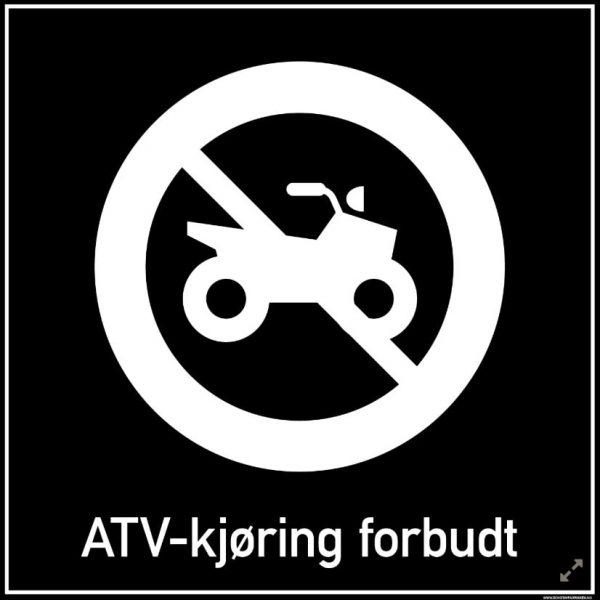 ATV-kjøring forbudt