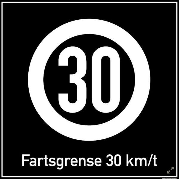 Privatrettslig   Fartsgrense 30 km/t