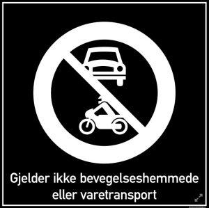 Gjelder ikke varetransport