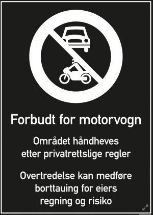 Forbudt for motorvogn