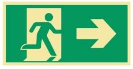 Sikkerhetsskilt | Nødutgang høyre