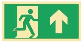 Sikkerhetsskilt | Nødutgang opp