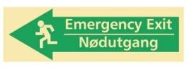 Sikkerhetsskilt | Emergency exit venstre