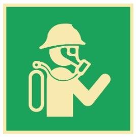 Sikkerhetsskilt   Pusteapparat