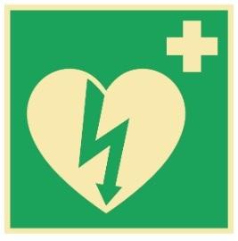 Sikkerhetsskilt | Hjertestarter