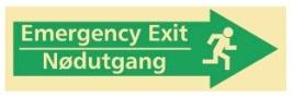Sikkerhetsskilt | Emergency exit høyre