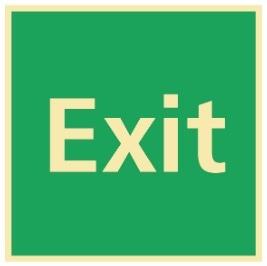 Sikkerhetsskilt | Exit