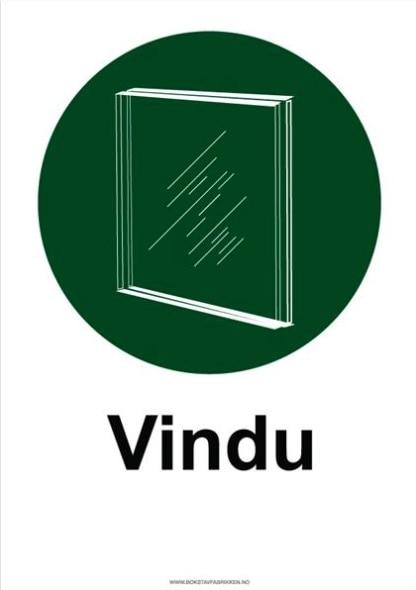 Avfallssortering skilt Vinduer