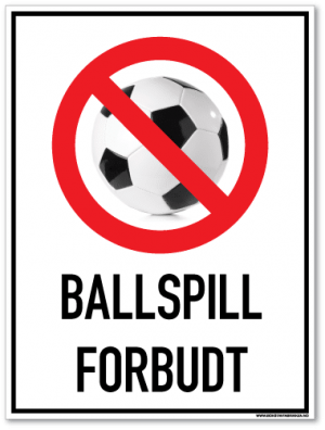 Ballspill forbudt