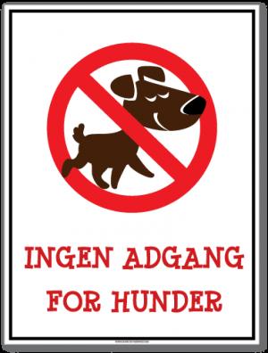 Ingen adgang for hunder