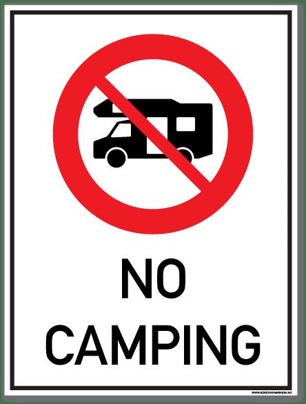 No camping bobil