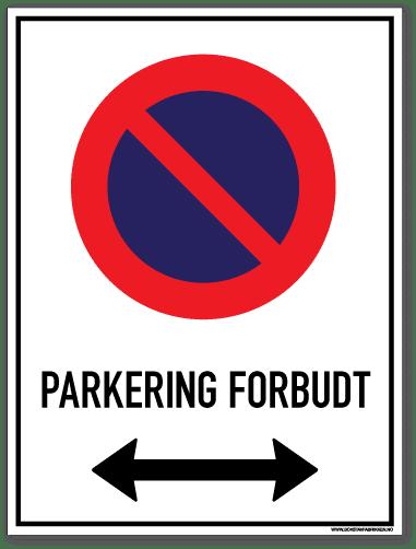 parkering forbudt begge veier