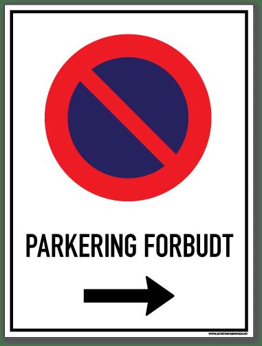 Parkering forbudt Høyre
