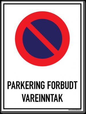 Parkering forbudt Vareinntak
