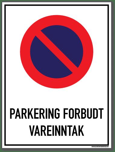 parkering forbudt skilt vareinntak