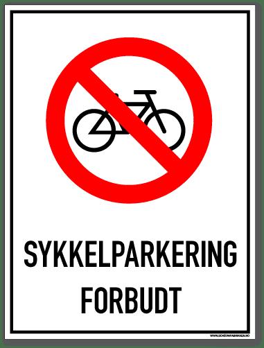 Sykkelparkering forbudt