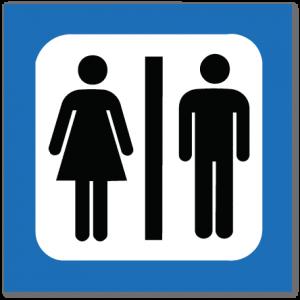 piktogram unisex-toalett