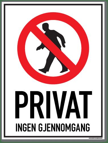 Privat ingen gjennomgang