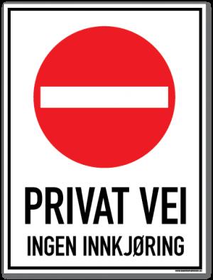 Privat vei ingen innkjøring