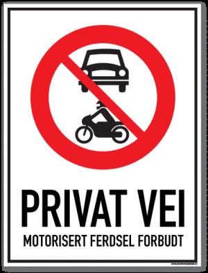 skilt-privat-vei-motorisert-ferdsel