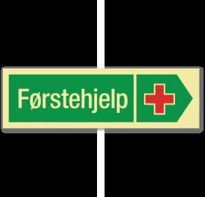 sikkerhetsskilt førstehjelp høyre