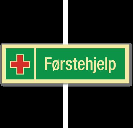 sikkerhetsskilt førstehjelp lang