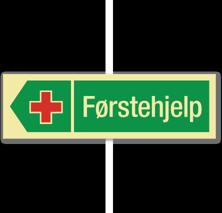 sikkerhetsskilt førstehjelp venstre