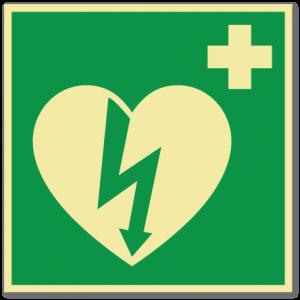 sikkerhetsskilt hjertestarter
