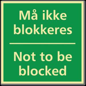sikkerhetsskilt må ikke blokkeres