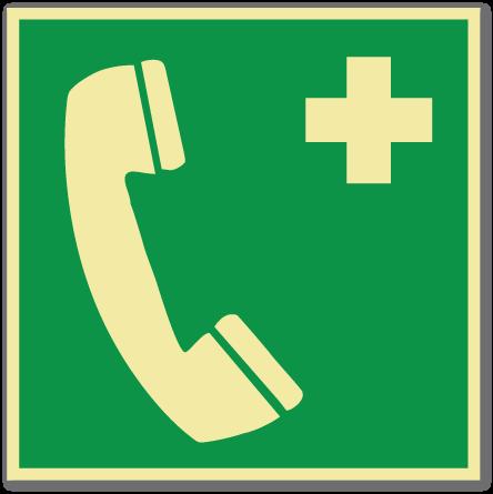 sikkerhetsskilt nødtelefon