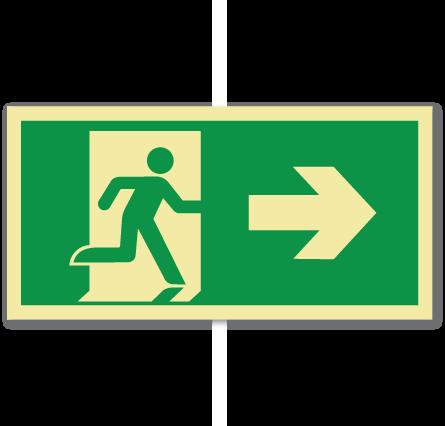 sikkerhetsskilt nødutgang høyre