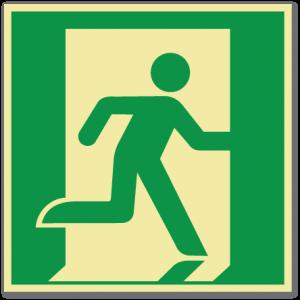sikkerhetsskilt nødutgang til høyre