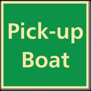 sikkerhetsskilt pick up boat