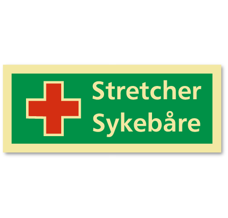 sikkerhetsskilt stretcher/sykebåre