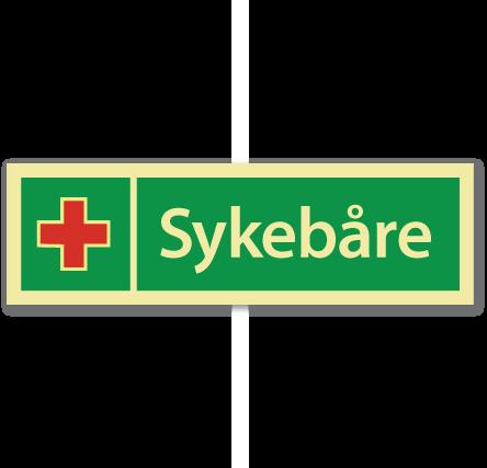 sikkerhetsskilt sykebåre