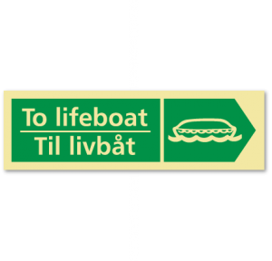 sikkerhetsskilt til livbåt høyre EN