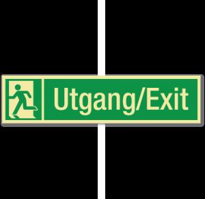 sikkerhetsskilt utgang/exit
