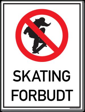Skating forbudt