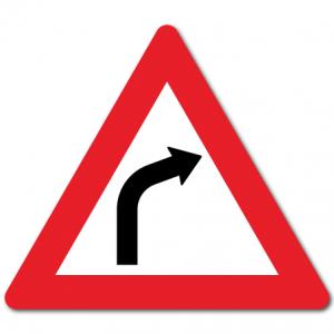 trafikkskilt farlig sving høyre