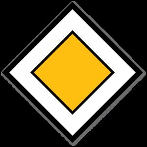 trafikkskilt forkjørsveg 206