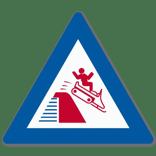Vassdragsskilt 1-03 NVE Overløpsterskel kjøretøy