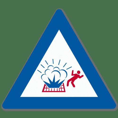 Vassdragsskilt 1-11 NVE Plutselig utblåsning